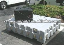 supply OEM rotating plastic tool box , aluminium mould tool box
