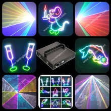 2000mW Full color laser projector , Dj disco night club lighting RGB laser show