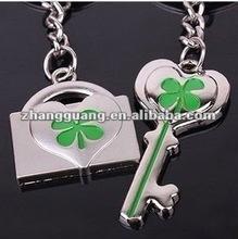 2012 fashion key lock lover metal key chain