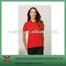 dry fit/cotton blend women pigue polo shirt