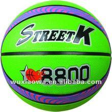 Popular letter rubber basketball / Grip power and emboss logo 12 panels basketball / balls factory(GRB003)