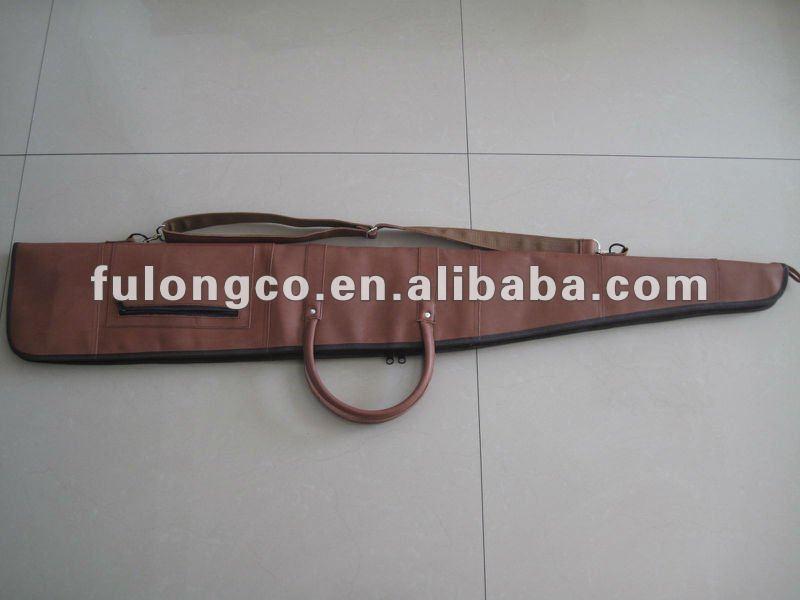 canvas and imitation leather gun bag