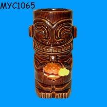 Tiki statues ceramic chiminea