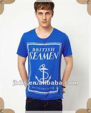 2012 summer hot sale British Anchor printed slim fit short sleeves branded t shirt for men