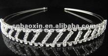 Fashion metal alloy crown with CZ stone