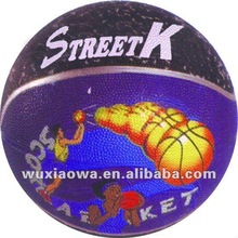 Colored basket balls/custom rubber basketball ball/ chinese balls(RB128)