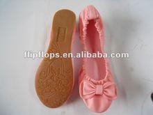2012 novo estilo de dobramento mulheres sapatos bailarina