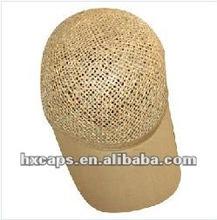 2012 new fashion straw baseball caps