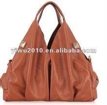 Genuine leather ladies handbag big size
