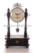 Country style wooden antique table clock