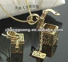 2012 fashion jewel box design alloy necklace