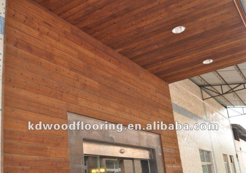 Solid Wood Wall Paneling : Outdoor wall panel solid wood douglas fir