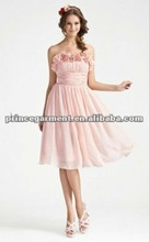 2012 hot selling new style chiffon and satin elegant cocktail dress