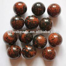 de alta calidad de piedras preciosas naturales de obsidiana caoba 25mm bola
