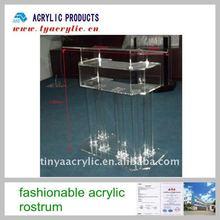 Elegant design clear acrylic lectern & rack;Clear acrylic lectern & platform;Perspex dais;