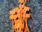 orange plastic cable marker tie tag/nylon tag tie