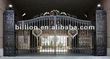 2012 china new design decorative manufacturer iron entry gate door swing garden gates iron door