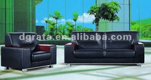 2012 Chinese modern office sofa with bounded leather and solid wooden frame finished F02