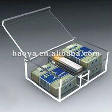 2012 Clear Custom Acrylic Cigarettes Box with Lid