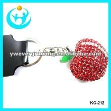 fashion alloy crystal pendant keychains