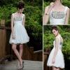 DORISQUEEN(DORIS) wholesale/agent/retail drop shipping new style off shoulder white knee length cocktail dresses