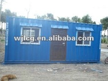 20ft welded prefab container house for office, military camp house