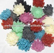 TOP seller in 2012! Factory price! 23*22MM mixed colors DIY flat back resin flower beads in bulk!