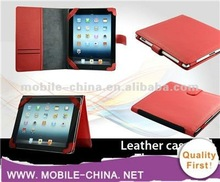 Hot flip leather cover case for the new ipad / for ipad 3