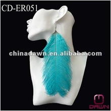Blue hot feather earrings big size CD-ER051