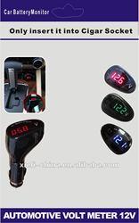 NEW Mini 12V/24V LED Display Digital Car Volt Meter Vehicle Voltage Gauge