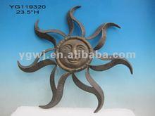 metal sun face decoration