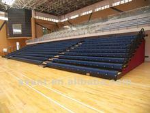 indoor colorful retractable stadium chair,arena telescopic seating system, telescopic tribune bleacher for multi-purpose,tribune