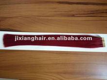Factory 100% Remy Human Hair Virgin Tape/PU Weft Hair / your right choice---Ji Xiang PU hair extension