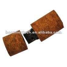Red wine cork shape wooden usb 4gb