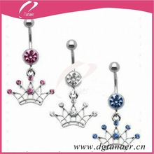 2012 Body piercing crystal belly bar