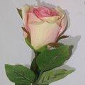 bourgeon rose simple artificiel de Paris pour la décoration