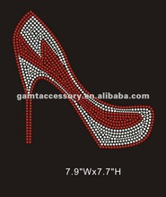 Bling high-heel shoes rhinestone transfer custome design wholesale