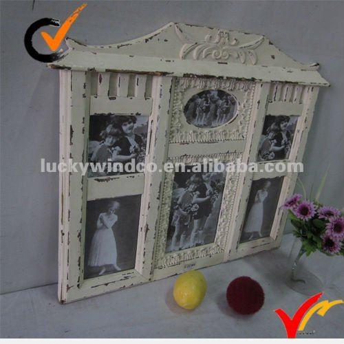 Shabby Chic Cream Wood Multi Photo Frame | 500 x 500 · 38 kB · jpeg