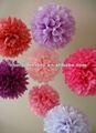 Colores de la mezcla colgante de la decoración de papel pompom