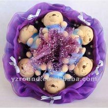 Bouquet Artificial Plush Winnie small bear Valentines Birthday Gift