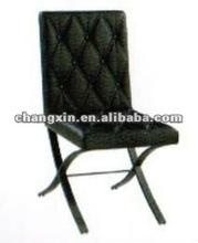 modern black metal dining chair design