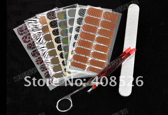 16 x 8 pcs Nail Art StickerTransfer Decoration Kit Set