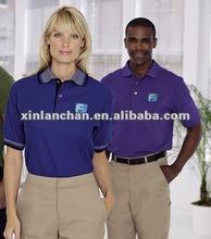 bule uniform Polo shirt work t shirt OEM service