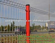 Vente chaude vert couleur PVC courbe extérieure lieux treillis soudé panneau de clôture / direct fabricant