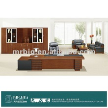 office furniture, large executive desk, painted office wooden table-WE0238
