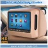 Hot 9 Inch Detachable Headrest Monitor with zip cover built-in Speaker