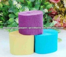 Wholesale party accessories crepe streamers assorted /Dora Party Supplies