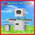 La campana- tipo de lavavajillas industriales de la máquina con el ce