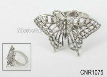 58*41mm Butterfly crystal diamond napkin ring