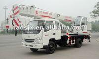 8 ton small single/dual winch hydraulic mobile crane 10 ton